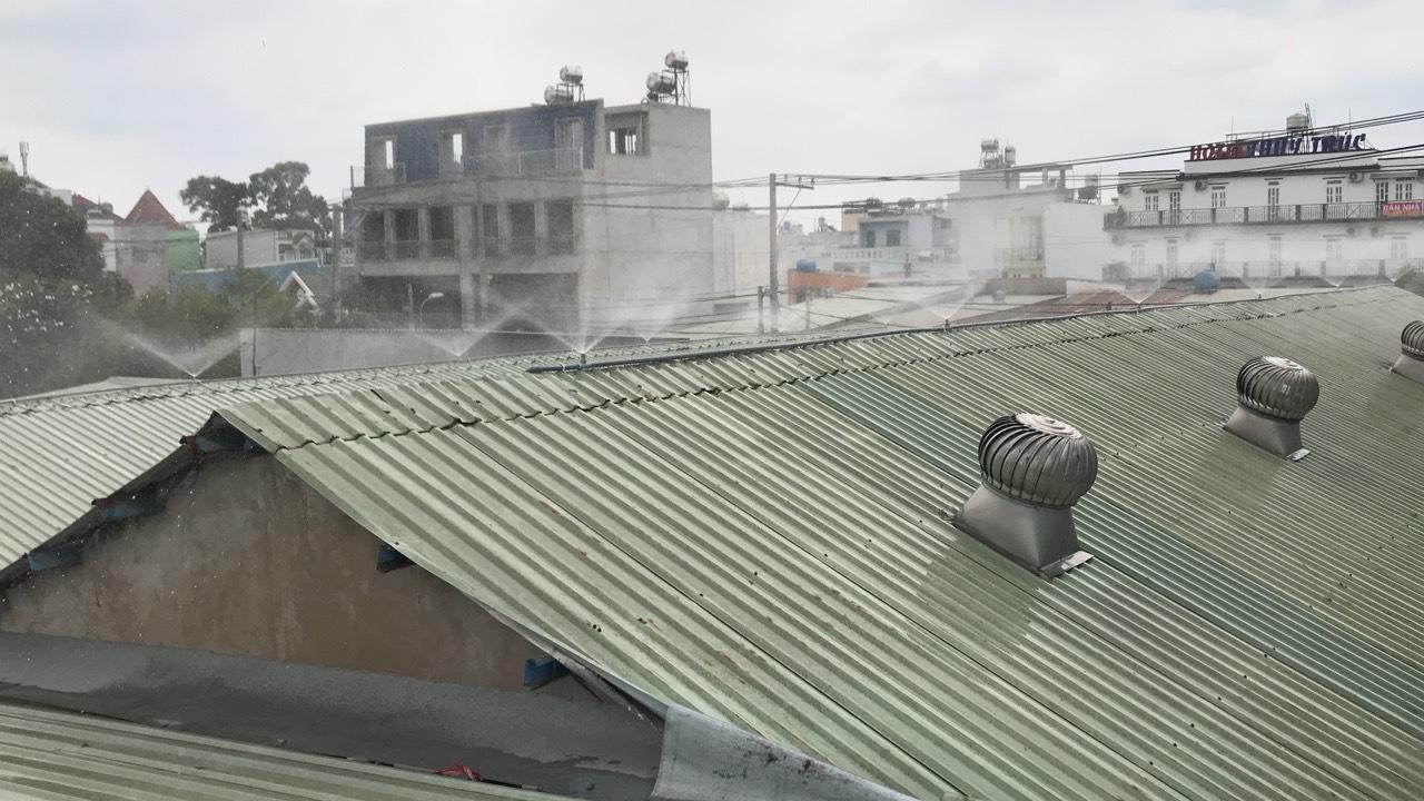 Hiệu quả từ việc phun sương làm mát nhà xưỡng sản xuất